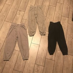 3 pairs of boys baseball pants
